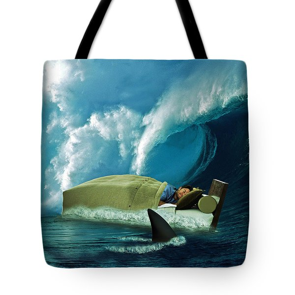 Sleeping With Sharks Tote Bag