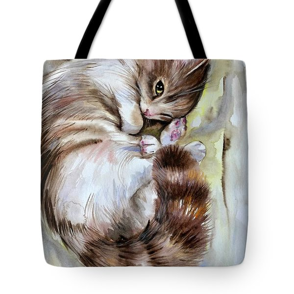 Sleepy Cat 2 Tote Bag
