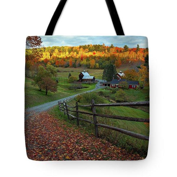 Sleepy Hollow Farm- Pomfret Vt Tote Bag