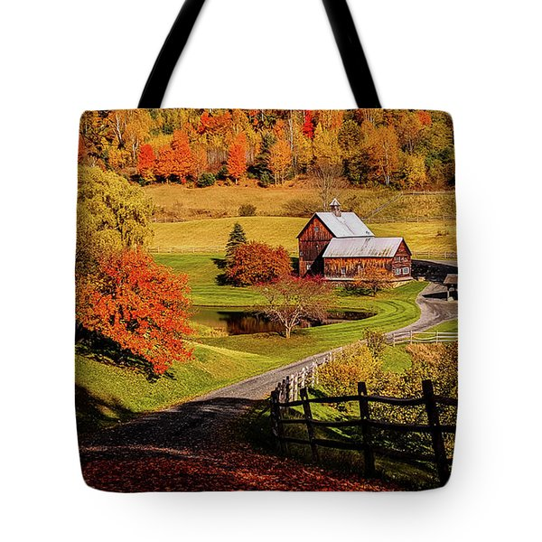 Tote Bag featuring the photograph Sleepy Hollow - Pomfret Vermont-2 by Jeff Folger