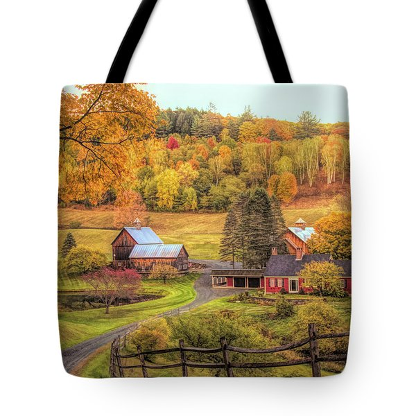 Tote Bag featuring the photograph Sleepy Hollow - Pomfret Vermont In Autumn by Jeff Folger