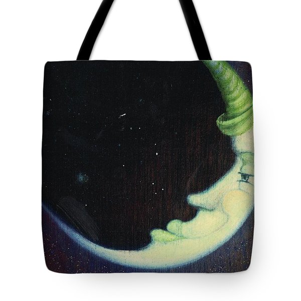 Sleepy Moon's Twin Brother Tote Bag
