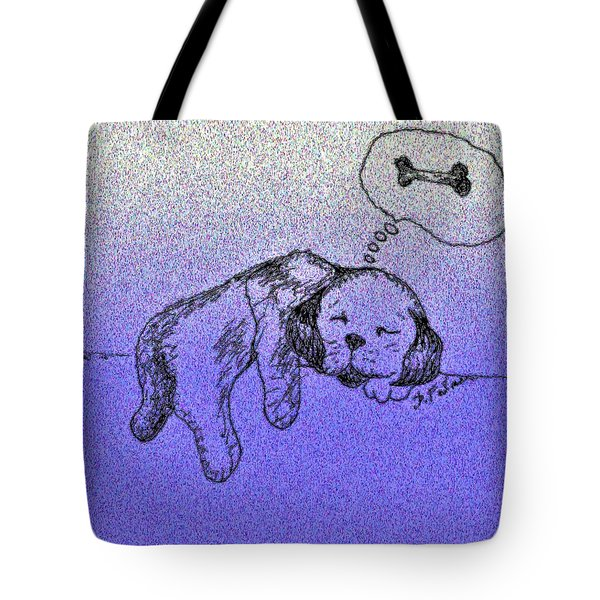 Sleepy Puppy Dreams Tote Bag
