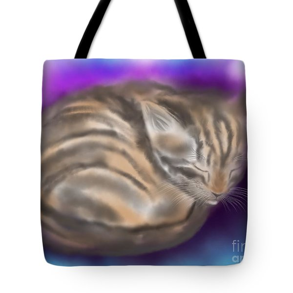 Tote Bag featuring the painting Sleepy Sam by Nick Gustafson