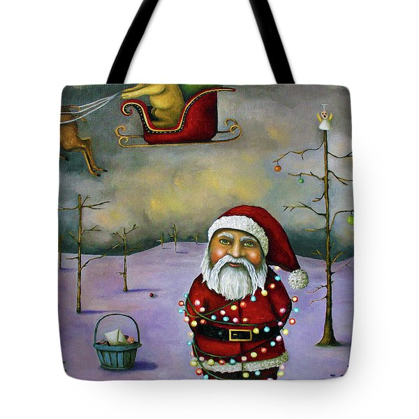 Sleigh Jacker Tote Bag by Leah Saulnier The Painting Maniac