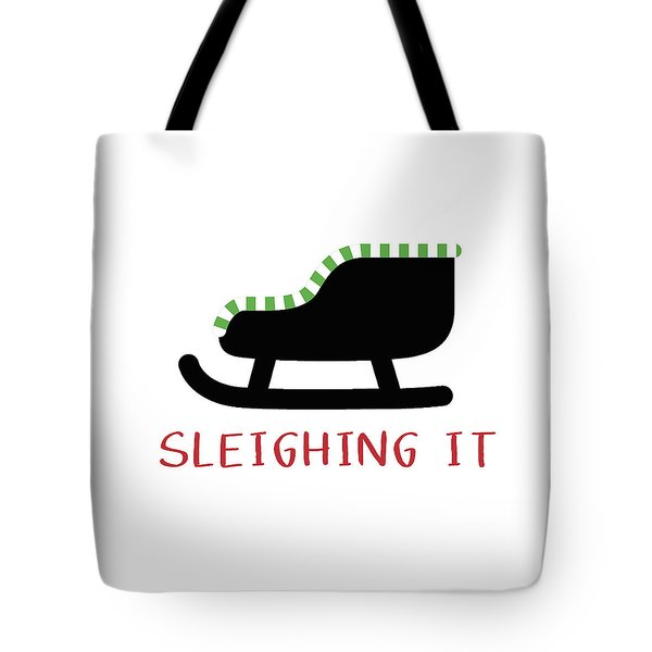 Sleighing It- Art By Linda Woods Tote Bag