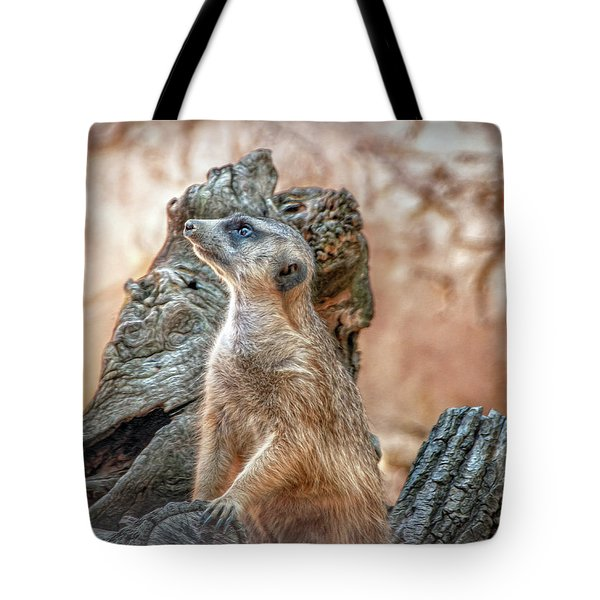 Tote Bag featuring the photograph Slender-tailed Meerkat by Hanny Heim