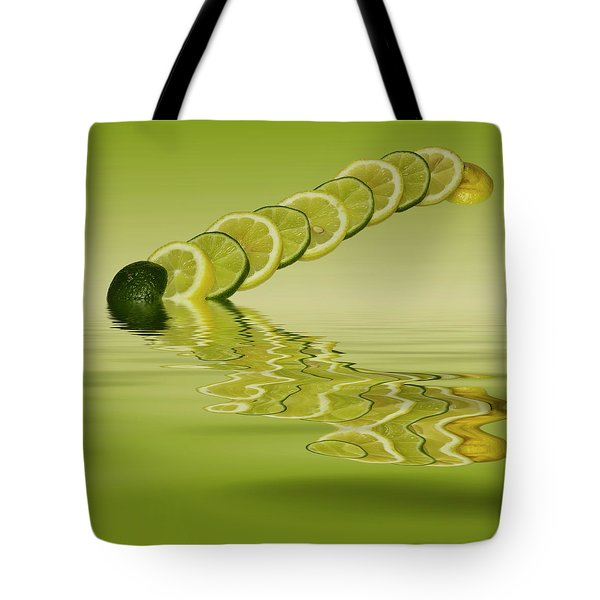 Tote Bag featuring the photograph Slices Lemon Lime Citrus Fruit by David French