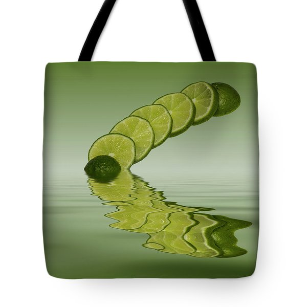 Tote Bag featuring the photograph Slices Lime Citrus Fruit by David French