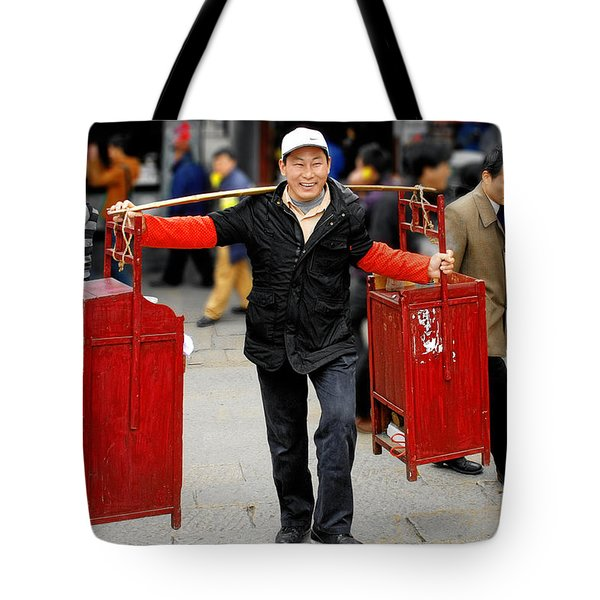 Slices Of Chinese Life Tote Bag by Christine Till