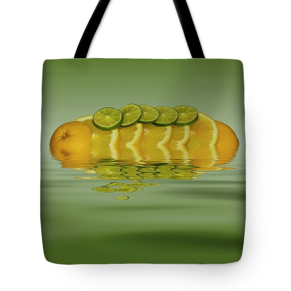 Tote Bag featuring the photograph Slices Orange Lime Citrus Fruit by David French