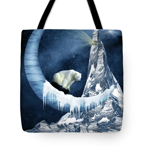 Sliding On The Moon Tote Bag