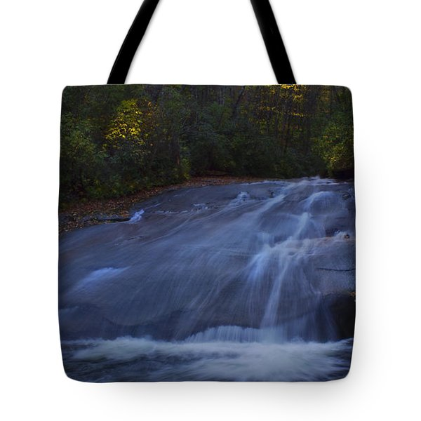 Tote Bag featuring the photograph Sliding Rock Falls by Ellen Heaverlo