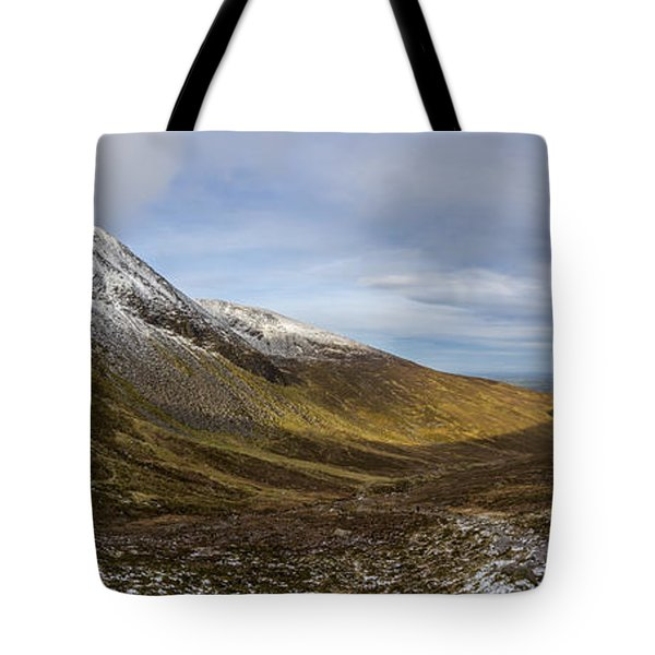 Slieve Commedagh And Slieve Donard Panorama From The Assent  Tote Bag