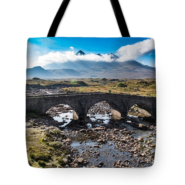Tote Bag featuring the photograph Skye Cuillin From Sligachan by Gary Eason