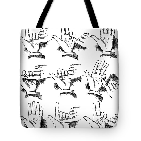 Tote Bag featuring the digital art Slight Of Hand by Edward Fielding