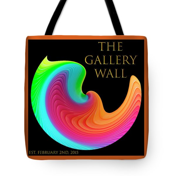 Tote Bag featuring the photograph Slinky Dove Of Peace-the Gallery Wall Logo by Wendy Wilton