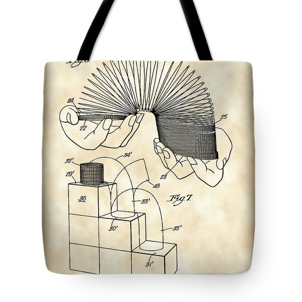 Slinky Patent 1946 - Vintage Tote Bag by Stephen Younts