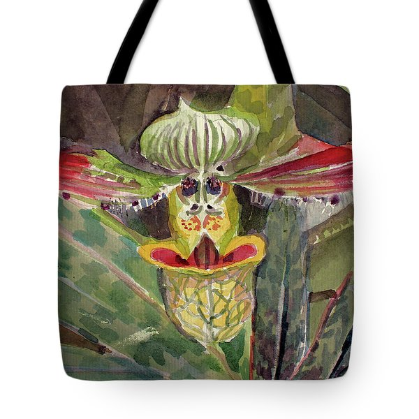 Tote Bag featuring the painting Slipper Foot Aladdin by Mindy Newman