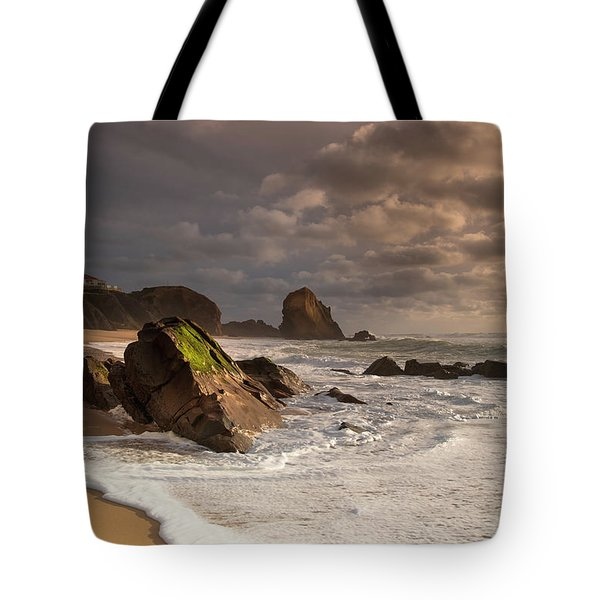 Slipping On Sand Tote Bag