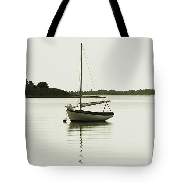 Sloop At Rest  Tote Bag by Roupen  Baker