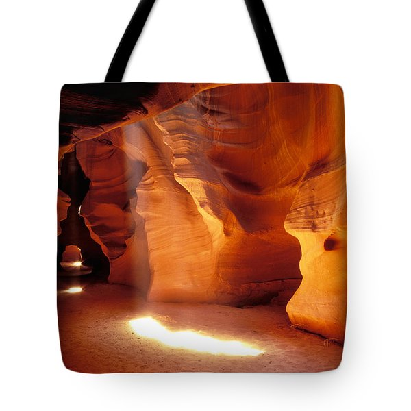 Slot Canyon Warm Light Tote Bag by Garry Gay