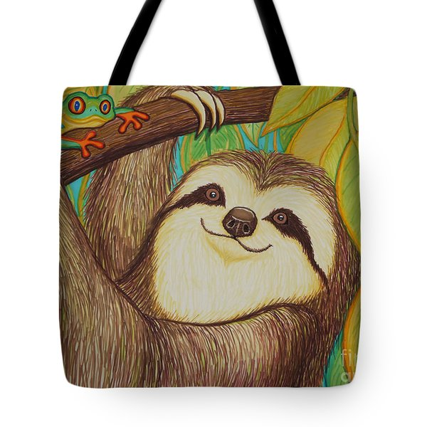 Sloth And Frog Tote Bag