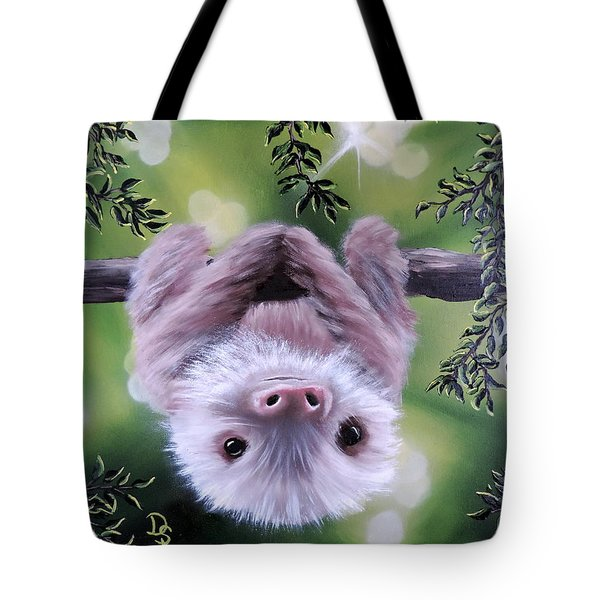 Sloth'n 'around Tote Bag by Dianna Lewis