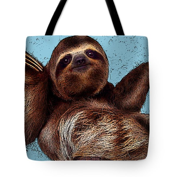 Sloth Pop Art Tote Bag