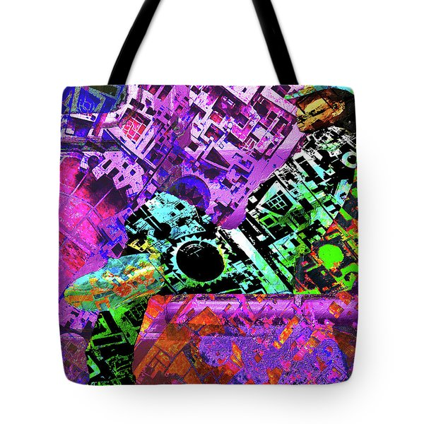 Tote Bag featuring the mixed media Slouch by Tony Rubino