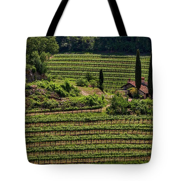 Tote Bag featuring the photograph Slovenian Vineyard by Stuart Litoff