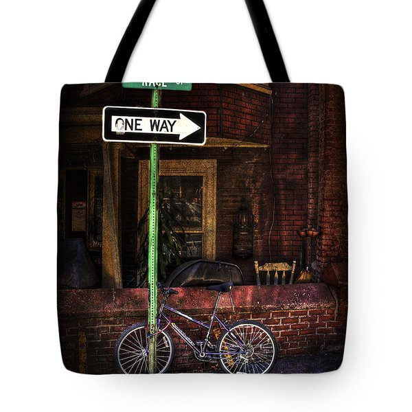 Slow Down On The Race Street Tote Bag by Evelina Kremsdorf