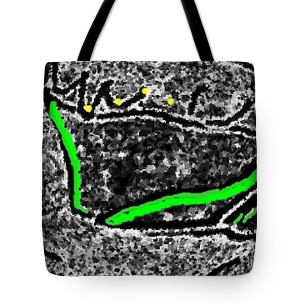 Tote Bag featuring the digital art Slow Down by Yshua The Painter