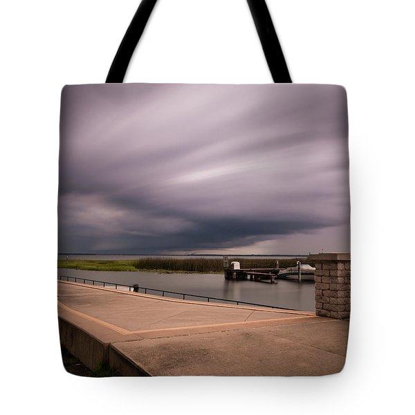 Slow Summer Storm Tote Bag