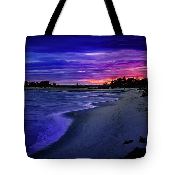 Slow Waves Erupting Clouds Tote Bag