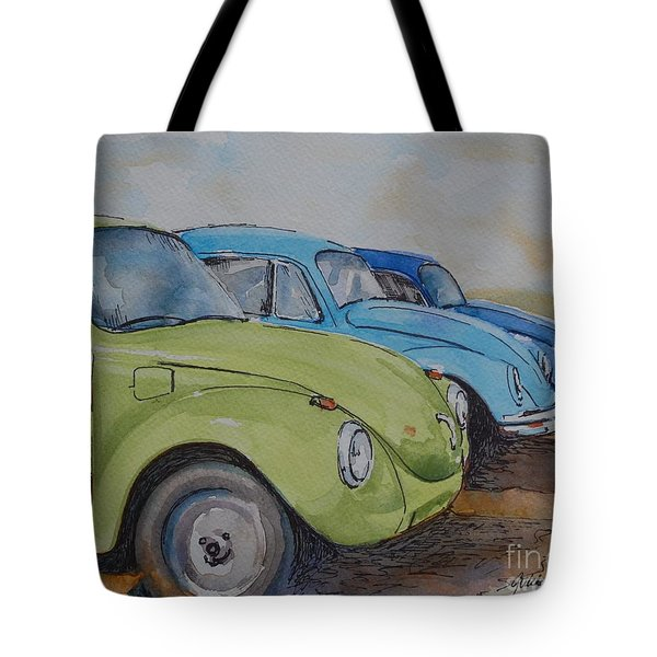 Slugbug Green Tote Bag by Gretchen Bjornson