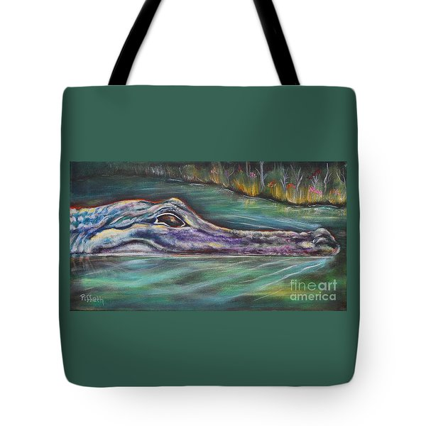 Sly Gator Tote Bag by Patricia Piffath