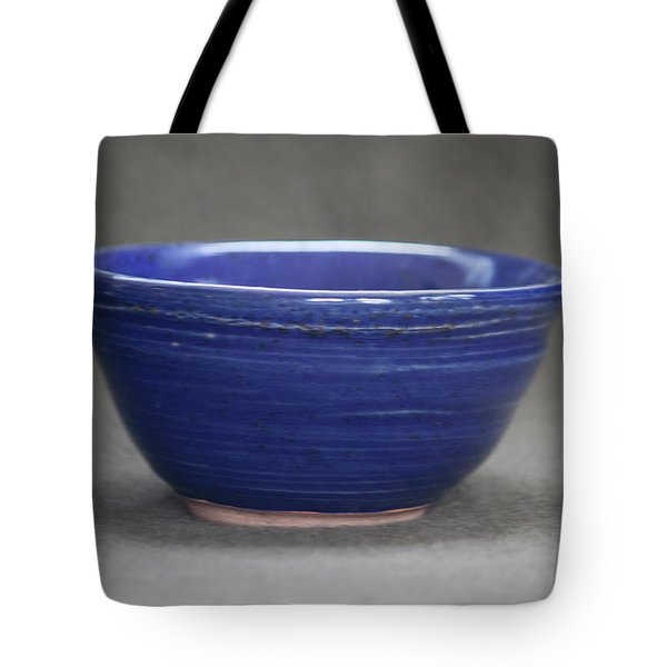 Small Blue Ceramic Bowl Tote Bag by Suzanne Gaff