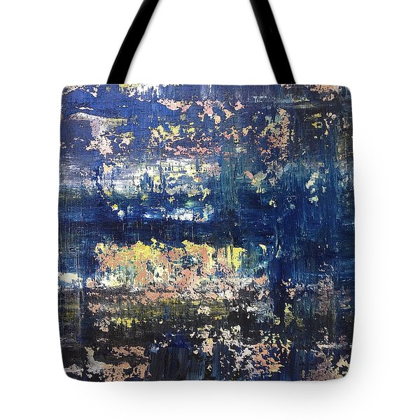 Small Blue Tote Bag