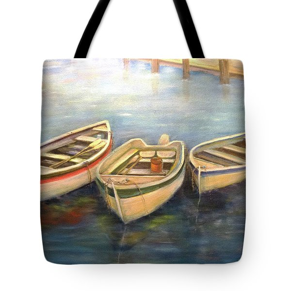 Small Boats Tote Bag