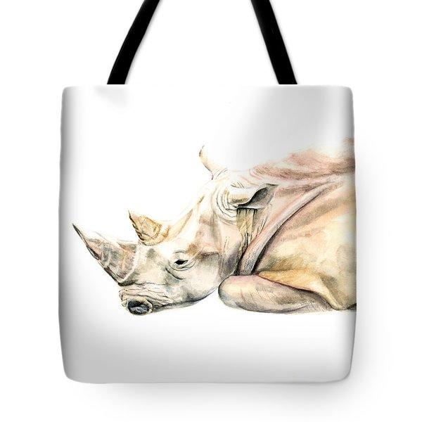 Small Colour Rhino Tote Bag