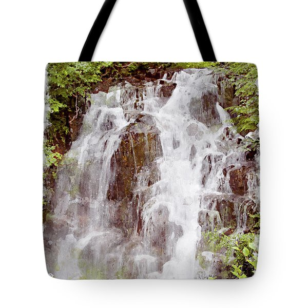 Small Falls On Mt. Ranier Tote Bag by Peter J Sucy