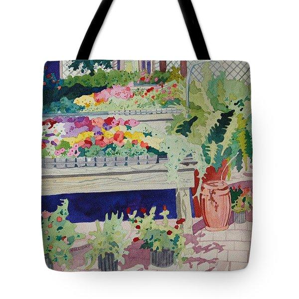 Small Garden Scene Tote Bag