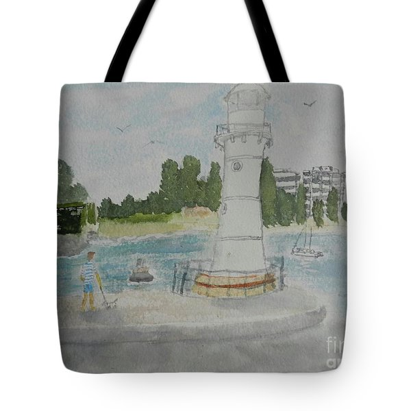 Small Lighthouse One Belmore Basin Tote Bag