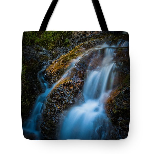 Small Mountain Stream Falls Tote Bag by Chris McKenna