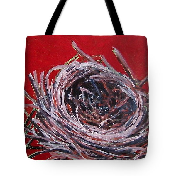 Small Nest On Red Tote Bag