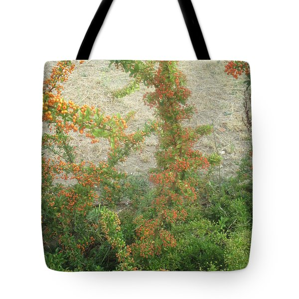 Small Orange Flowers Tote Bag