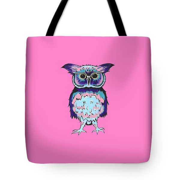 Small Owl Pink Tote Bag