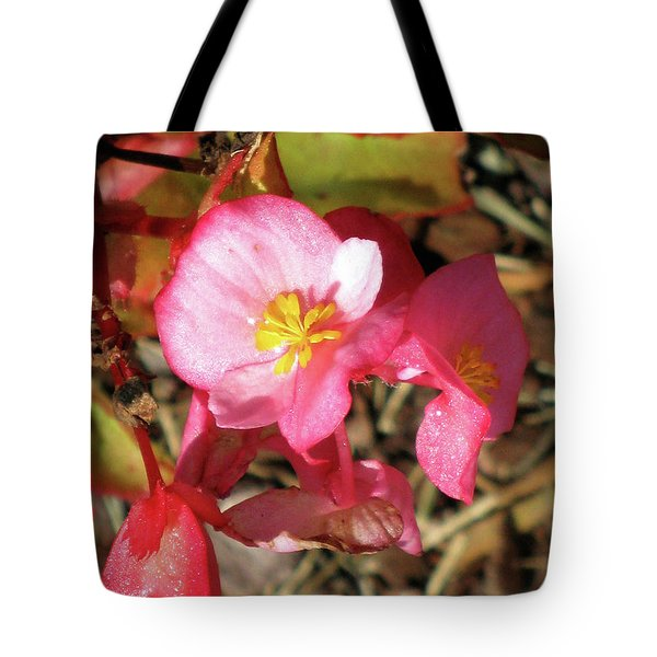 Small Pink Flowers Of Summer Tote Bag by Michele Wilson