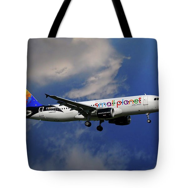 Small Planet Airbus A320-214 Tote Bag